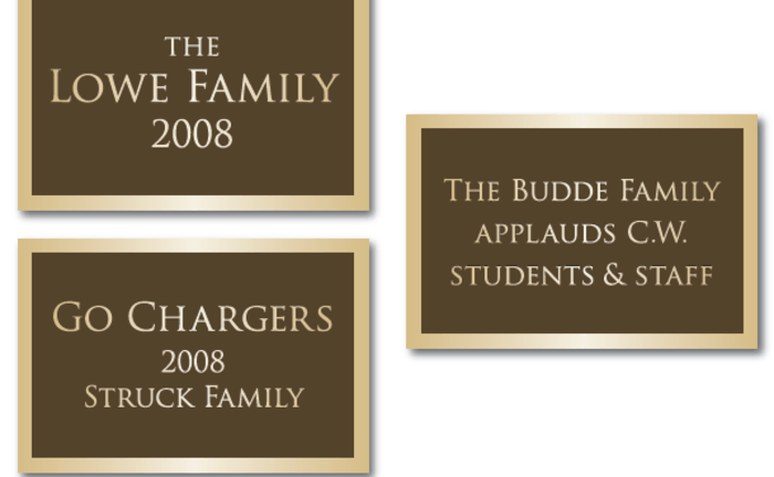 Charger Arch of Support Plaques